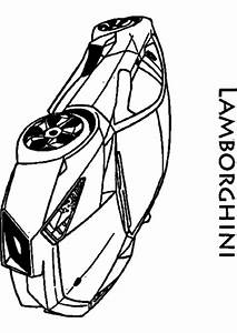 Coloriage, Voiture, Lamborghini, U00e0, Imprimer