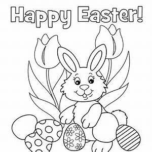 printable easter coloring pages that say happy easter for ...