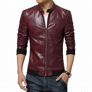 2016 New Fashion Mens Leather Jackets And Coats Slim ...