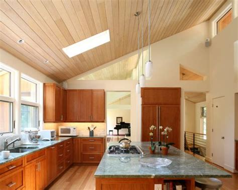 4 Stylish Homes With Slanted Ceilings : Sloped Ceiling Kitchen
