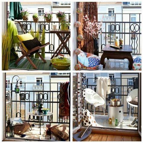 kleinen balkon sommerlich gestalten moebel laterne
