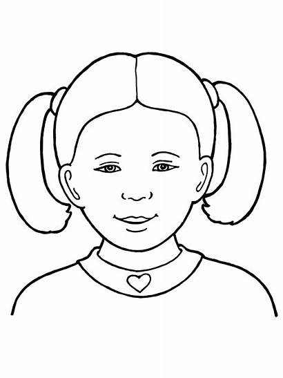 Primary Drawing Line Coloring Children Hair Library