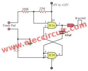 Simple Touch Switch Circuit Projects Eleccircuit