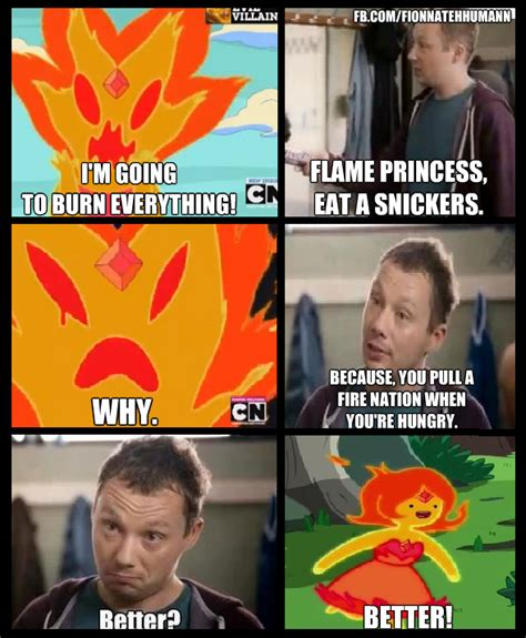 Eat A Snickers Meme - flame princess eat a snickers snickers quot hungry quot commercials know your meme