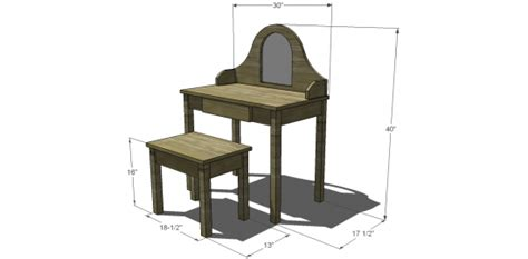 diy vanity table plans free woodworking plans dressing table woodproject