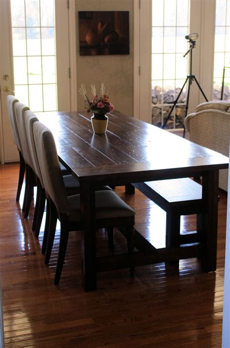 Dining Room Table With Bench And Chairs by Landlocked Farmhouse Dining Table And Bench