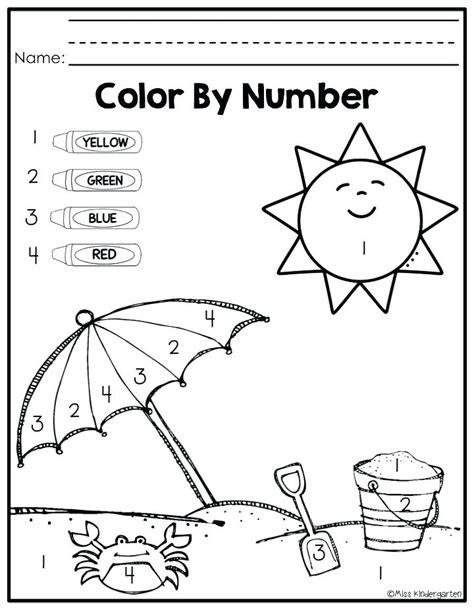 color red worksheet  preschool