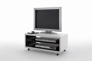 Tv Möbel Weiß : jaap 7 tv lowboard weiss innen schwarz mit rollen ~ Buech-reservation.com Haus und Dekorationen
