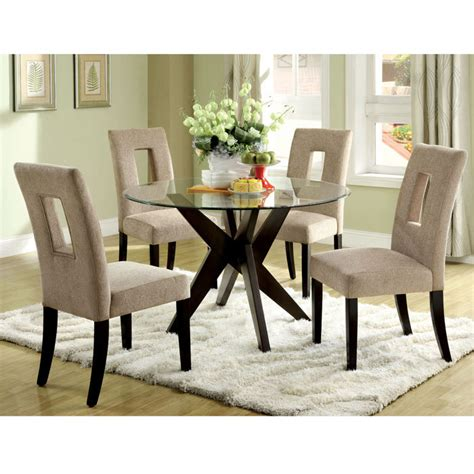 small round dining table and chairs glass top dining tables homesfeed