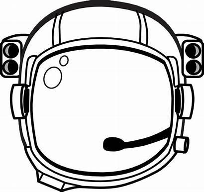 Astronaut Helmet Clip Printable Hat Space Template
