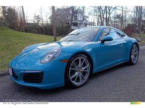 Blue Porsche 911 by 2017 Porsche 911 4 Coupe In Miami Blue Photo 14