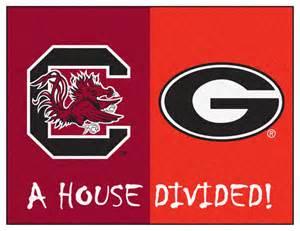 Contemporary Red Rugs by South Carolina Gamecocks Vs Georgia Bulldogs Rivalry Rug
