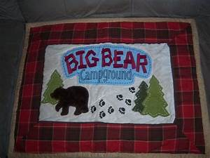 Campground Comforter And Pillow Shams For Cabin
