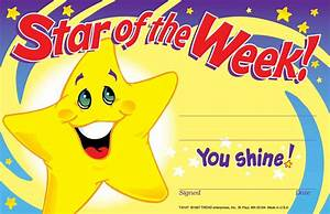 30 childrens star of the week 39you shine39 reward With star of the week certificate template