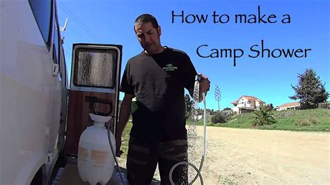 outdoor portable camp shower diy living