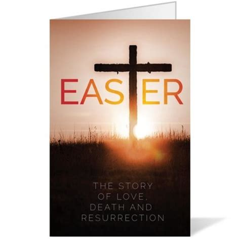 easter cross bulletin church bulletins outreach marketing