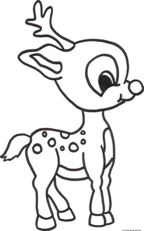 merry christmas baby romance reindeer coloring pagesfree printable coloring pages  kids