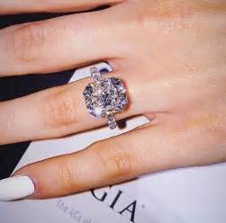 rectangle engagement ring best 25 radiant cut engagement rings ideas on cushion cut rings radiant cut