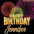 Wishing You A Happy Birthday, Jennifer! Best fireworks GIF ...