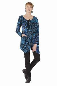 Vetement Femme Original Tendance : t shirt long pour femme tendance original et chic greta ~ Melissatoandfro.com Idées de Décoration