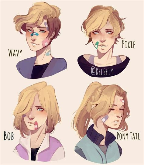 hair reference ideas  pinterest drawing