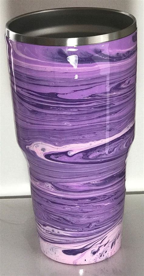 acrylic pour tumblerpaint pour cuppaint dripmonogram paint cupstainless steel tumbleryeti