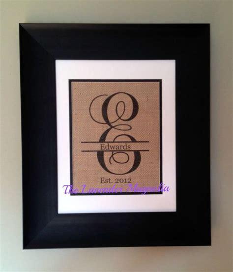Split Letter Monogram Burlap