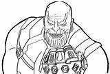 Thanos Coloring Infinity War Pages Printable Creepy Gauntlet Smiling Avengers Lego Marvel Coloringonly Spiderman Fans Dc Template sketch template