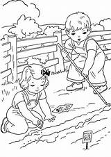 Coloring Farm Farming Printable Colorear Verano Dibujos Tulamama Chicken sketch template