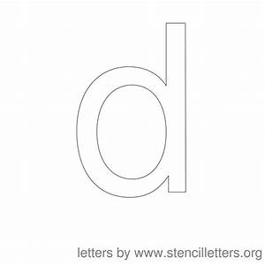 5 Best Images of Letter D Lowercase Stencils Printable ...