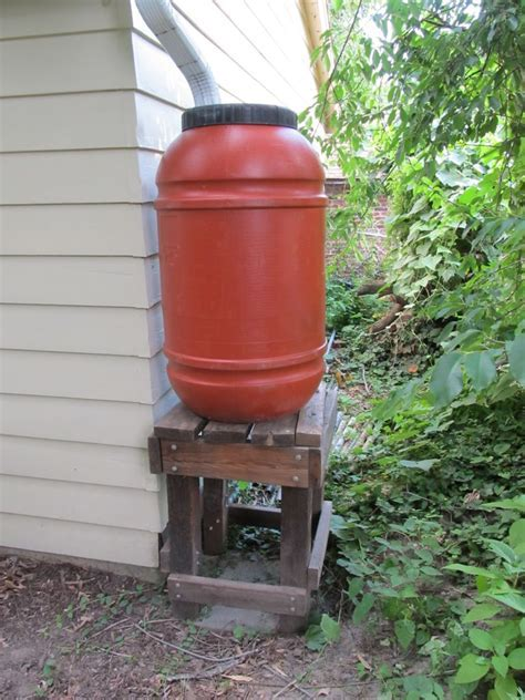 Build a rain barrel stand, or bid on this one   Wild Ones