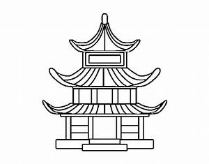 Maison Japonaise Dessin : coloriage de maison traditionnelle japonaise pour colorier ~ Melissatoandfro.com Idées de Décoration