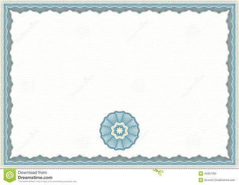 guilloche certificate template stock vector image