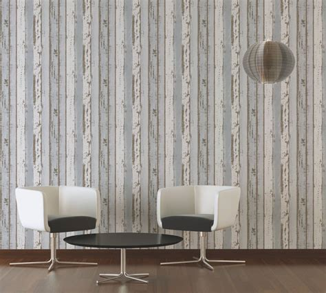 Used Look Wand by Non Woven Wallpaper Wooden Wall Used Look Blue 30258 1