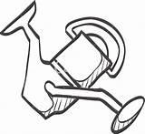 Reel Fishing Drawing Sketch Getdrawings sketch template