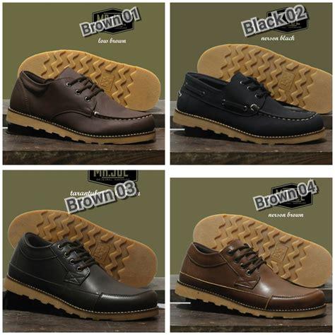 Sepatu Mr Joe Bath jual sepatu casual tali mr joe low boots coklat hitam