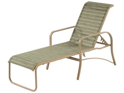 chaises aluminium windward design island bay sling aluminum chaise