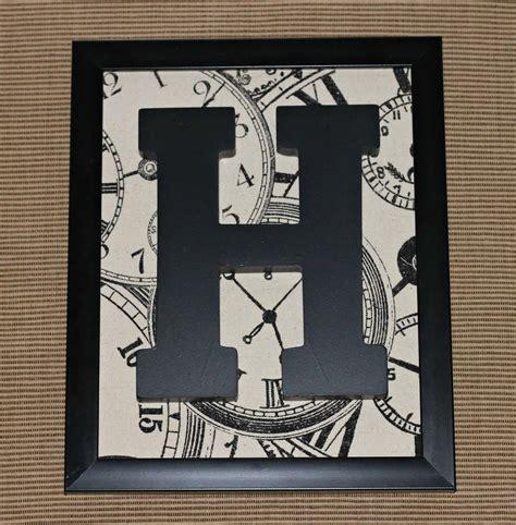 framed monogram letter  homemade
