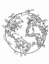Coloring Drawing Map Earth Globe Population While Did Maps Preschool Printable Greatest 1600 sketch template