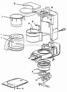Mr  Coffee Pr123 Parts List And Diagram