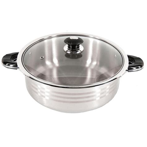 Super X 12 Quart Stainless Steel Shallow Pot