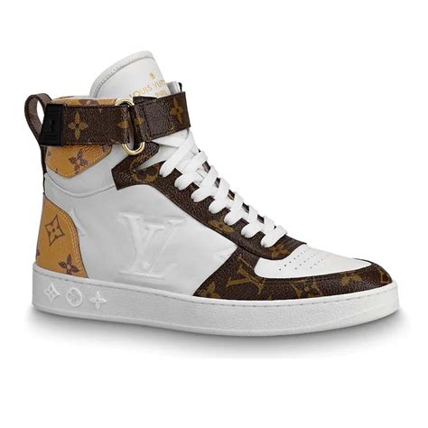 louis vuitton lv unisex boombox sneaker boot  embossed lamb leather brown lulux