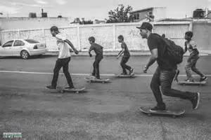 Skateboarding Street Skate