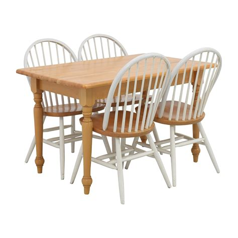 kitchen table and 4 chairs 84 butcher block kitchen table and four chairs tables 8635