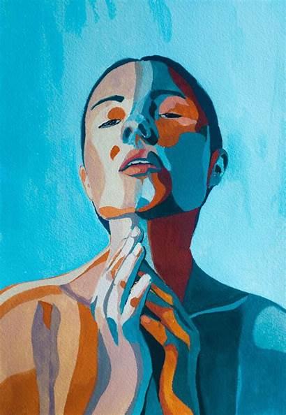 Illustrations Portrait Simple Gouache
