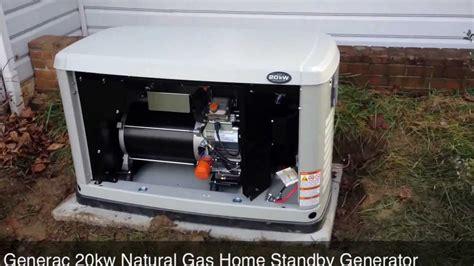 home backup generators generac 20kw gas home standby generator