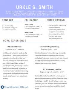best resume templates 2017 2018 best resume exles 2017 on the web resume exles 2017