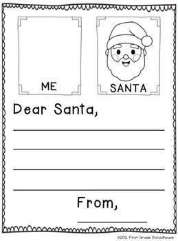christmas writing  kindergarten christmas writing