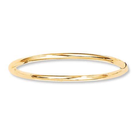 Baby Bangle Bracelet 14k Yellow Gold  832357800  Kay. Greenish Blue Sapphire. Lamborghini Diamond. Large Diamond Stud Earrings. Freshwater Beads