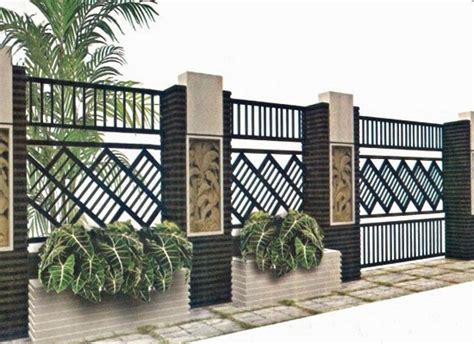 contoh desain pagar rumah cantik sederhana terbaru